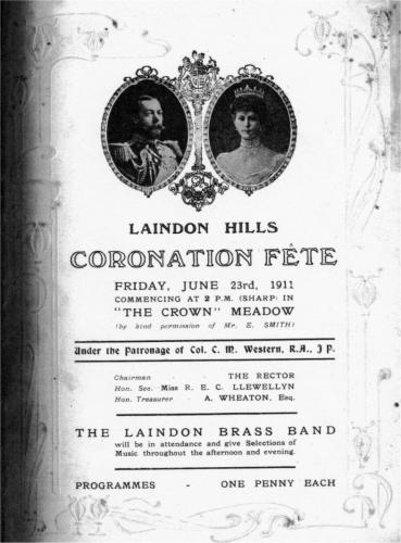 Laindon-Brass-Band-Coronation-Fete-1911