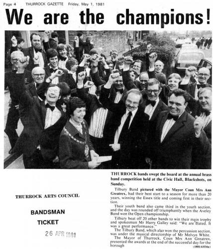 May 1981 - Championship of Essex Winners